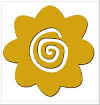 All Night Media Brass Embossing Stencil - Spiral Daisy