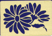 American Traditional Brass Embossing Stencil - Daisy