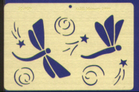American Traditional Brass Embossing Stencil - Dragonflies In Flight