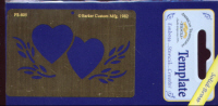 American Traditional Brass Embossing Stencil - Hearts