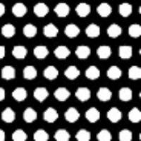 Patterned Vellum - Polka Dots -  Black/White