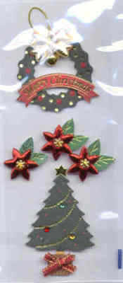 Card Embellishments - Christmas Trees and Wreath