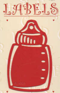 Label Art Template - 4202 - Baby Bottle