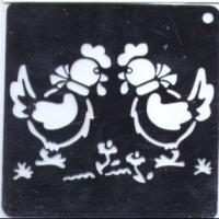 Embossing Stencil - Hens