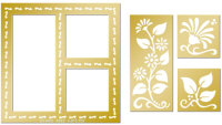 Lay Out Embossing Template Set - Flowers