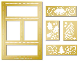 Lay Out Embossing Template Set - Bells