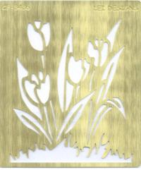 Brass Embossing Stencil - Tulips