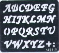 Embossing Stencil - Uppercase  Alphabet