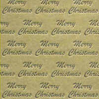 Foil Printed Card - Merry Christmas - Gold