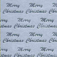 Foil Printed Card - Merry Christmas - Silver