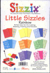 Sizzix Little Sizzles Rainbow Paper Pad