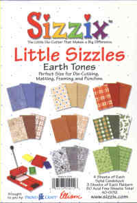 Sizzix Little Sizzles Earthtones Paper Pad