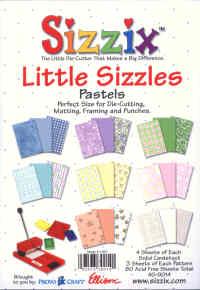 Sizzix Little Sizzles Pastels Paper Pad