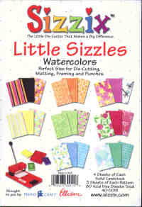 Sizzix Little Sizzles Watercolours Paper Pad