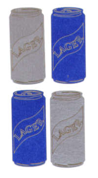 Light Arted Designs - Lager Cans
