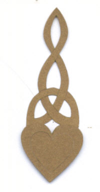 Light Arted Designs - Welsh Love Spoon - Double Cut