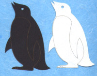 Light Arted Designs Laser Double Cut - Penguins