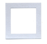 Light Arted Designs Laser Cut - Square Frames - Silver