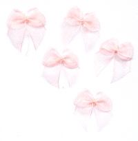 Organza Ribbon Bows - Peach
