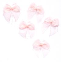 Organza Ribbon Bows - Peach