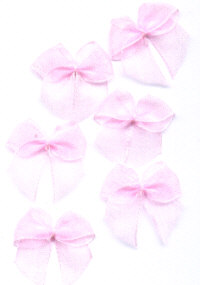 Organza Ribbon Bows - Pink