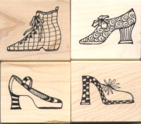 Elusive Images Chic Shoes Large Rubber Stamp Set