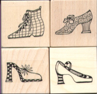 Elusive Images Chic Shoes Small Rubber Stamp Set