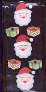 Card Embellishments - Santas and Gifts
