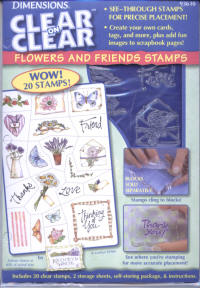 Dimensions Clear on Clear Flowers and Friends Stamp Set