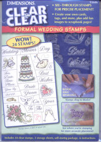 Dimensions Clear on Clear Formal Wedding Stamp Set