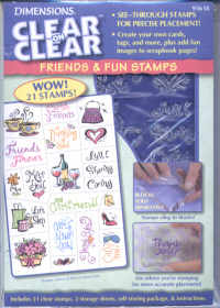 Dimensions Clear on Clear Friends and Fun Stamp Set