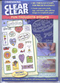 Dimensions Clear on Clear Fun Thoughts Stamp Set