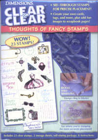 Dimensions Clear on Clear Thoughts of Fancy Stamp Set