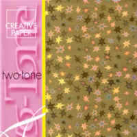 Two Tone Card - Stars - Gold