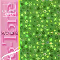 Two Tone Card - Stars - Green