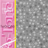 Two Tone Card - Stars - Silver