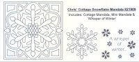 Elusive Images Chris' Cottage Snowflake Mandala Rubber Stamp Set