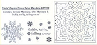 Elusive Images Chris' Crystal Snowflake Mandala Rubber Stamp Set