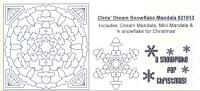 Elusive Images Chris' Dream Snowflake Mandala Rubber Stamp Set