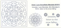 Elusive Images Chris' Lace Snowflake Mandala Rubber Stamp Set