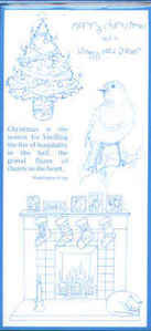 Elusive Images Christmas By The Fireside Unmounted Rubber Stamp Set
