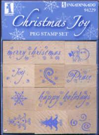 Christmas Joy Peg Stamp Set