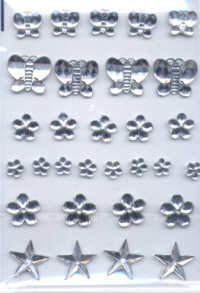 Self Adhesive Acrylic Jewel Shapes - Clear