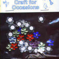 Self Adhesive Jewels - Multi Flowers