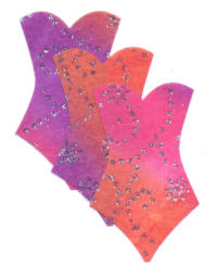 Light Arted Designs - Basques - Pink Multi Glitter