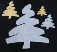 Light Arted Designs - Brush Christmas Trees