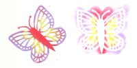 Light Arted Designs - Butterflies - White