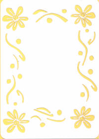 Light Arted Designs - Card Panel - Daisy