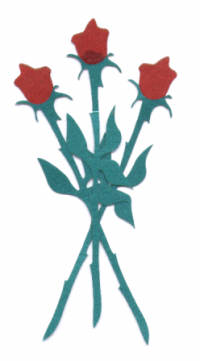 Light Arted Designs - Double Cut - One Dozen Red Roses