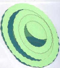 Light Arted Designs - Frames - Deckle Oval - Green